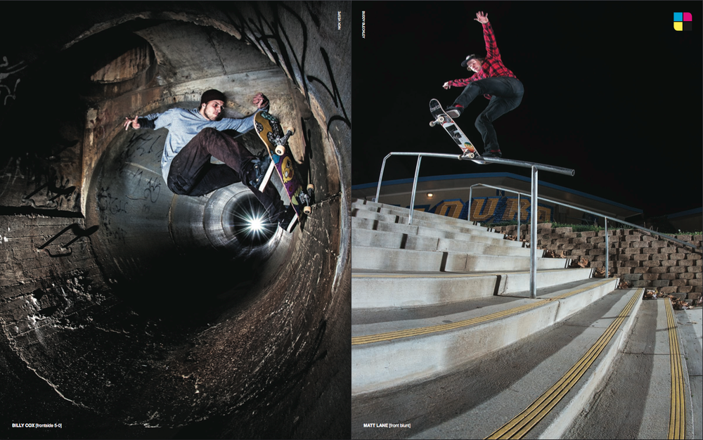 FOCUS SKATE MAG: JANUARY/FEBRUARY 2014  [BILLY COX - FRONTSIDE 5-0]