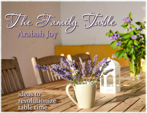 Janelle was featured in this unique e-book that has  50 ideas, activities, games, recipes, and more for revolutionizing your family table time!  To grab yours go to http://www.arabahjoy.com/.