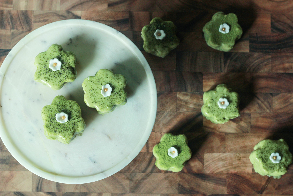 recipe: japanese green tea petits fours [8]