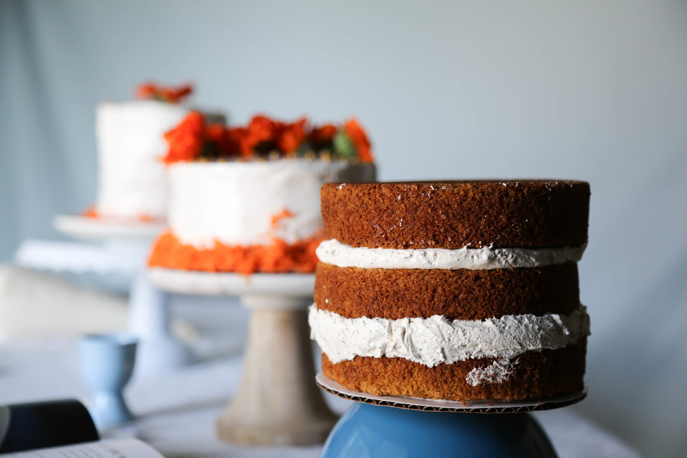 Cardamom Carrot Cake with Earl Grey Frosting (gluten free)