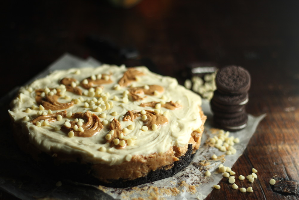 White Chocolate Peanut Butter Pie (gluten free)