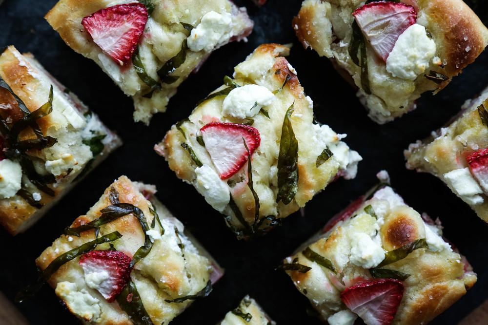 Strawberry, Basil, & Goat Cheese Focaccia