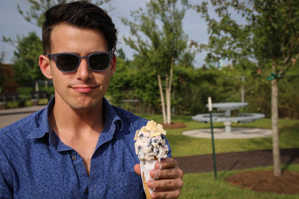 """Hey, Matt, this ice cream is like definitely melting."""