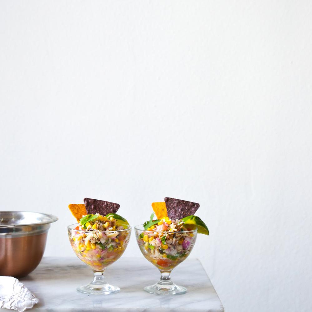 Crab + Sweet Corn Ceviche
