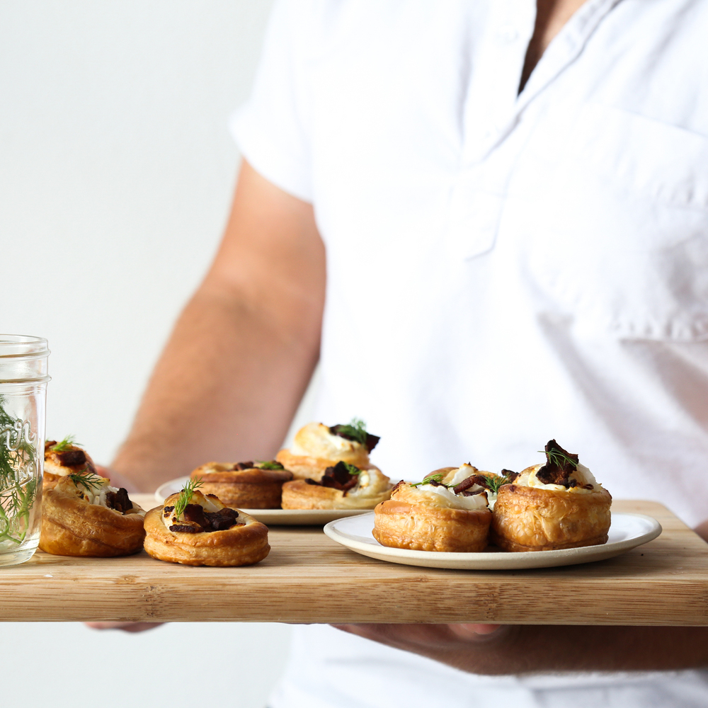 Bacon + Goat Cheese Tarts
