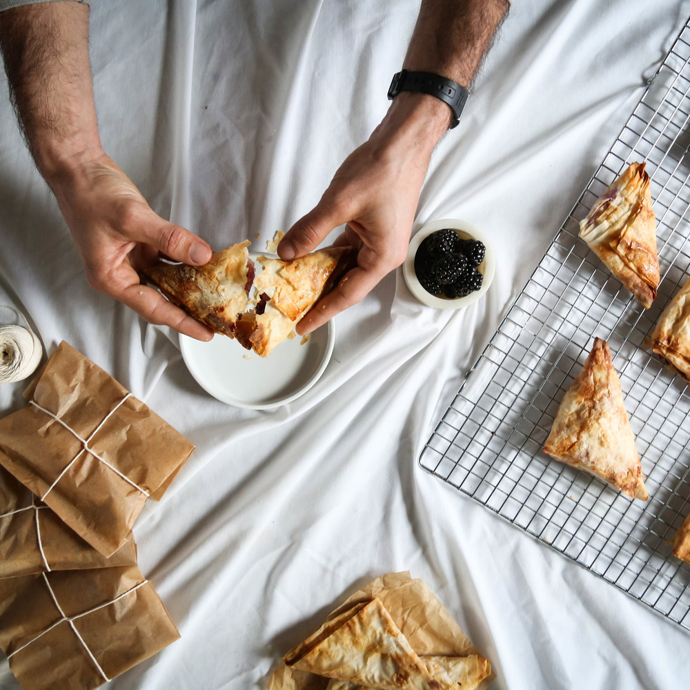 Blackberry Ricotta Turnovers