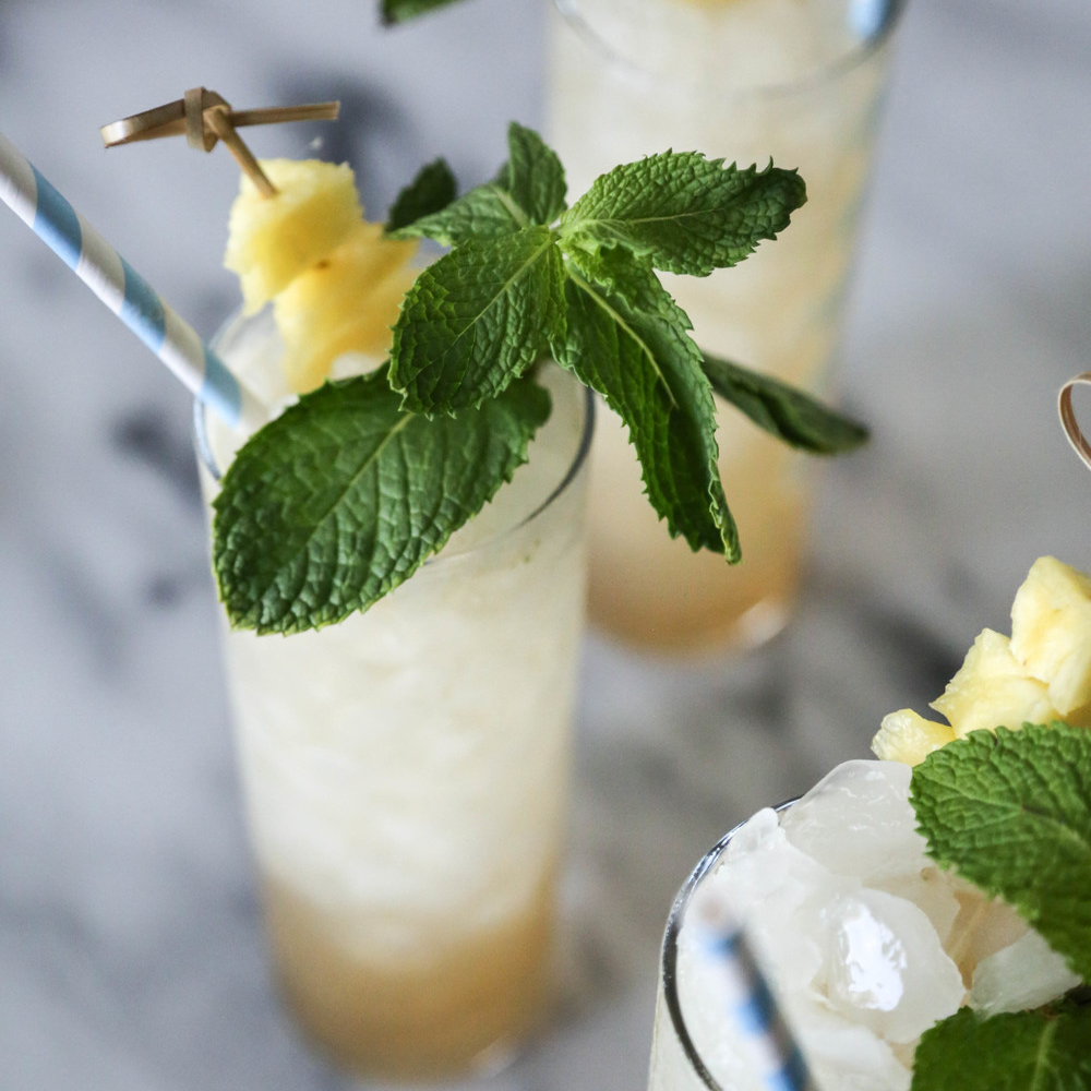 Spiced Pineapple Mojitos