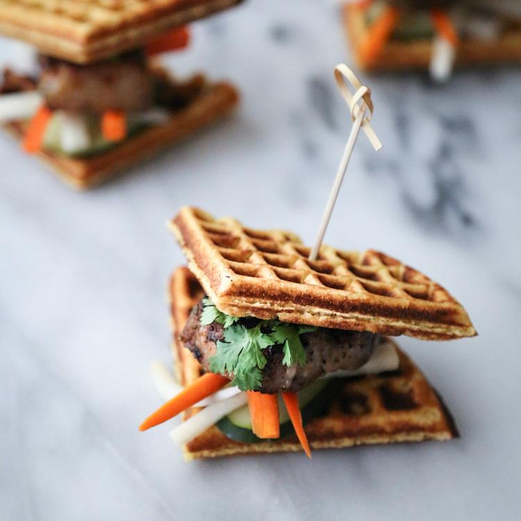 Pork Belly Waffle Sliders