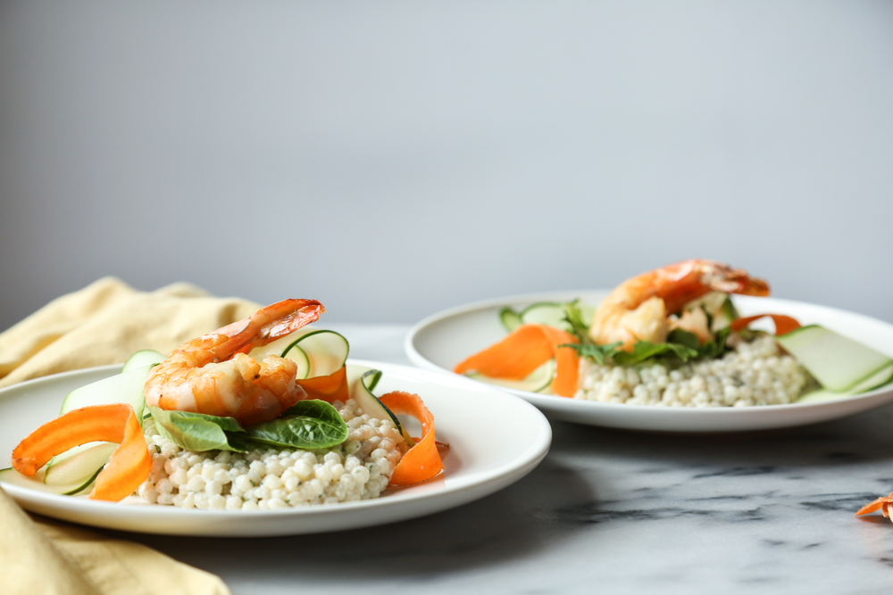Shrimp + Couscous Salad with Yogurt Tarragon Sauce — Probably This
