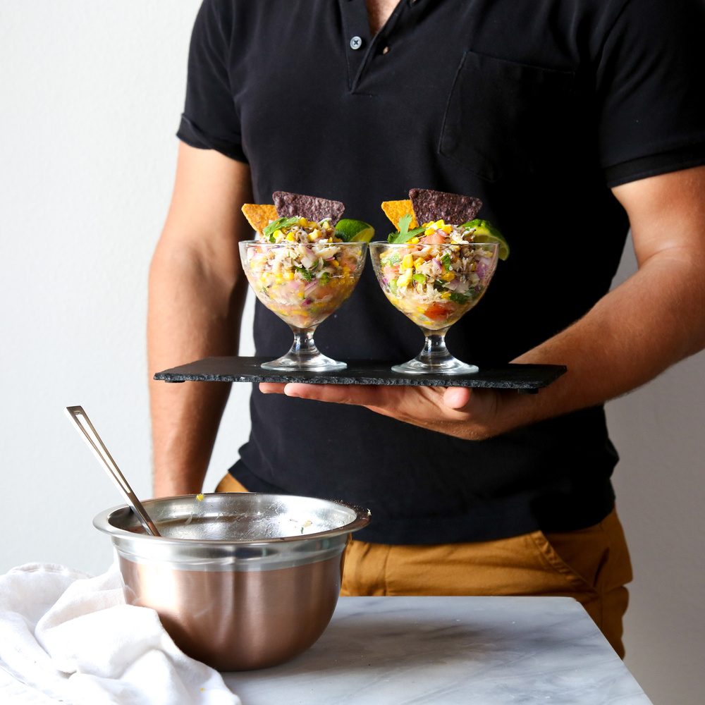 Crab + Sweet Corn Ceviche