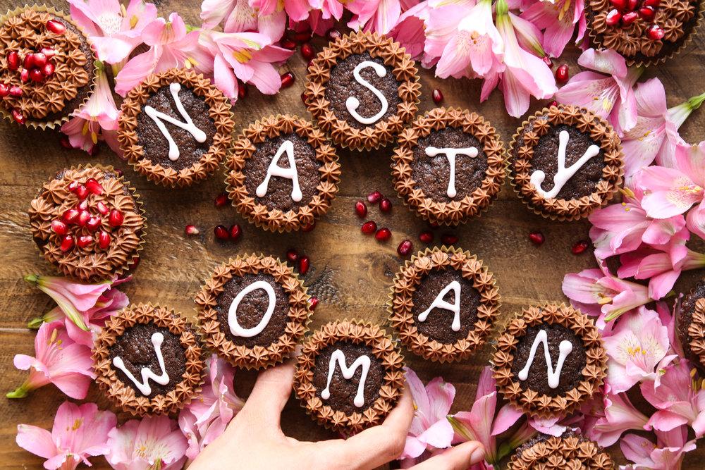 Nasty Woman Cupcakes   Chocolate & Pomegranate   #nastywoman