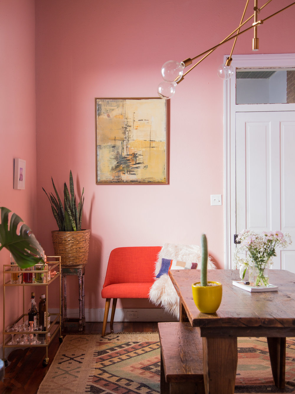 Pretty In Pink: Dining Room Makeover