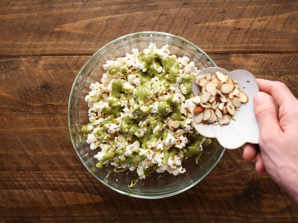 Matcha White Chocolate Popcorn