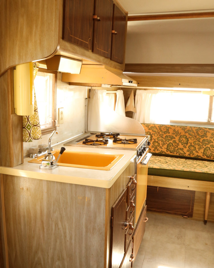 vintage camper renovation before photos