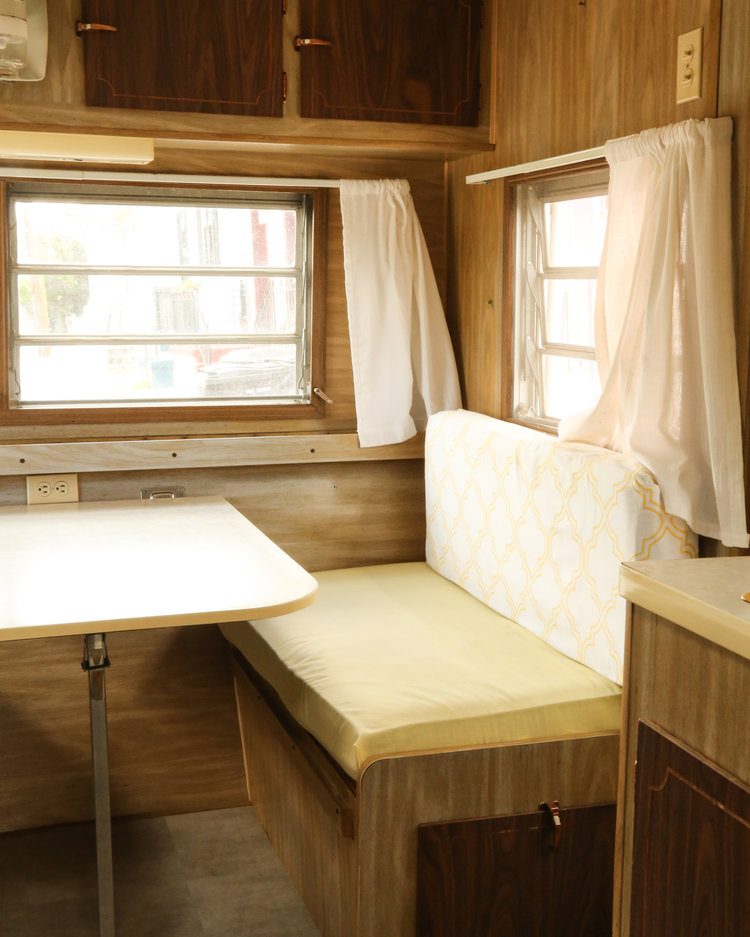 vintage camper renovation before photo