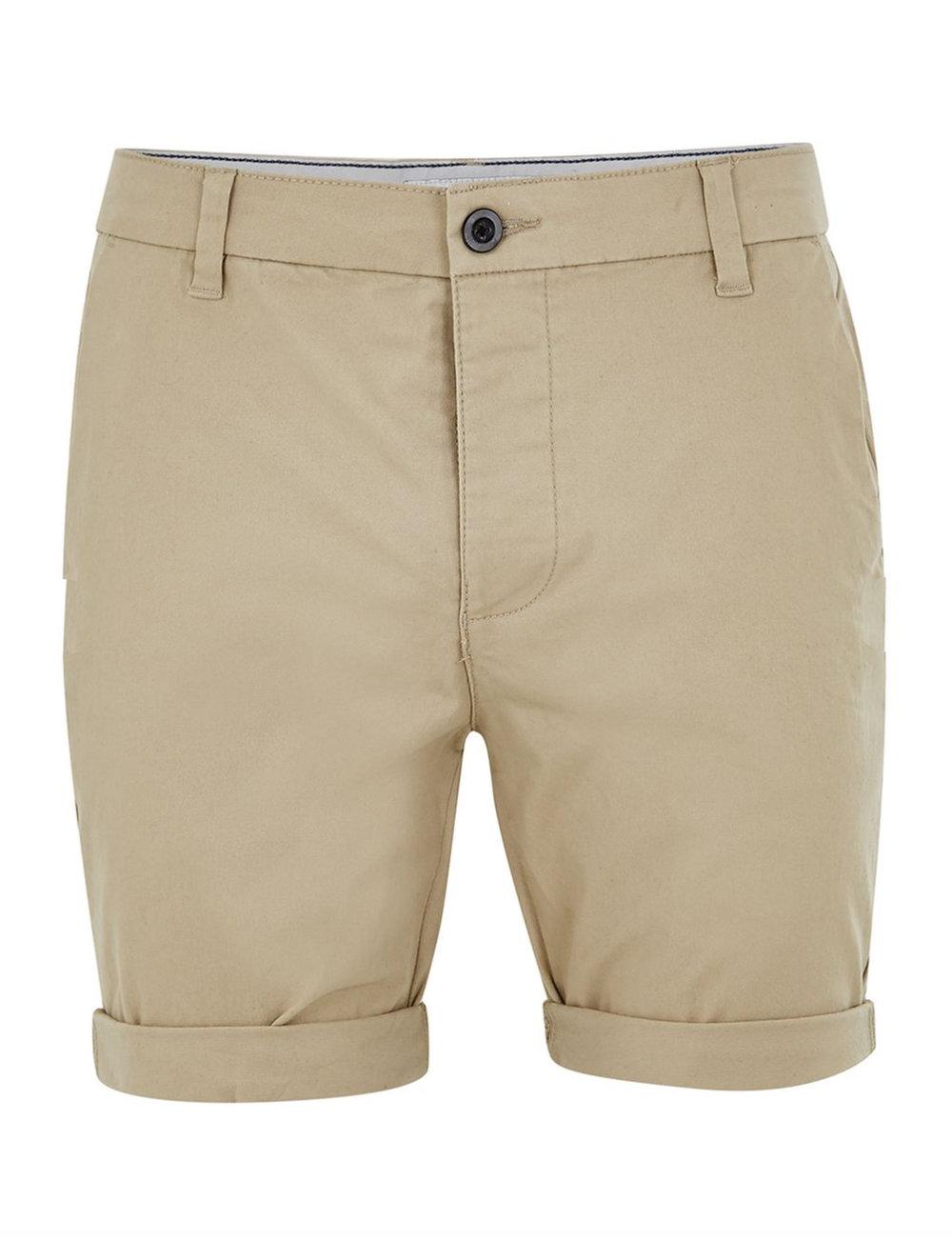 Stone Stretch Skinny Chino Shorts - ($40)