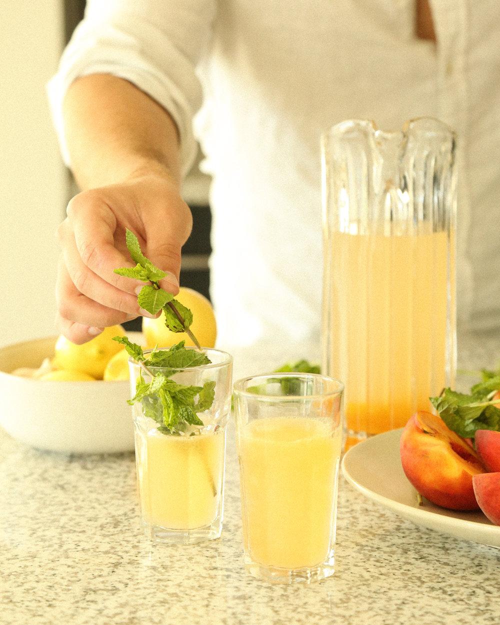 peach summer cocktail