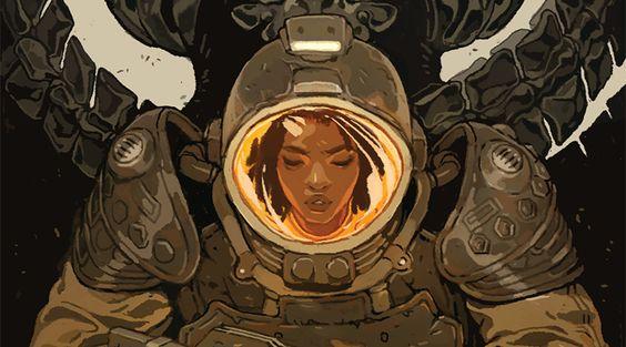 "Character aesthetic for ""Naledi"" (Aliens: Defiance Cover 3)"