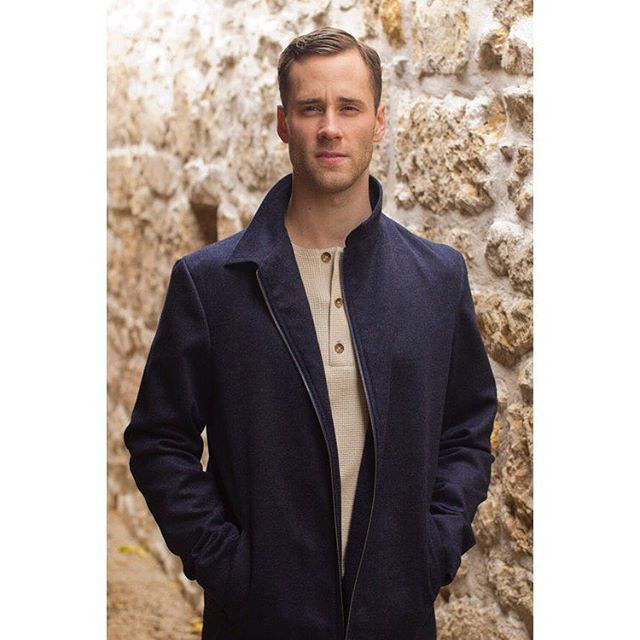 The Champlain Collared Coat — The outer shell is made out of a cashmere wool blend.
