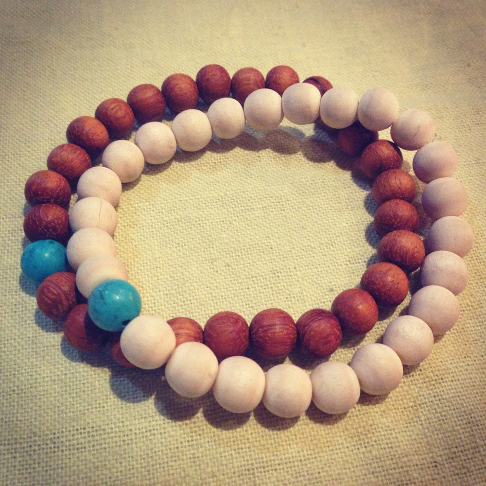 accessories wooden beads slap bracelet