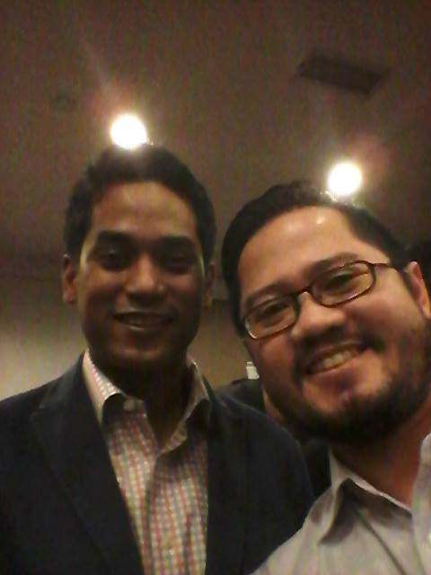 With Youth and Sports Minister Khairy Jamaluddin