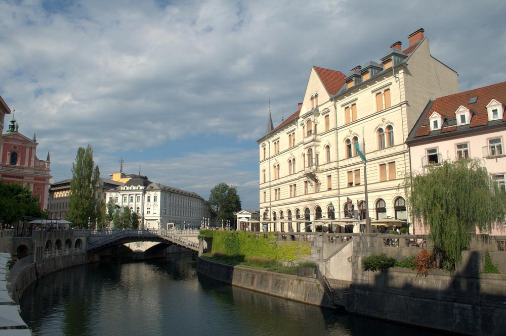 The beautiful and historic Ljubljanica River.