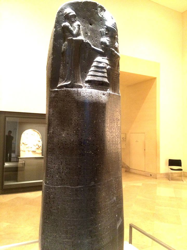 Laws of ancient Mesopotamia all on one man-sized stele.