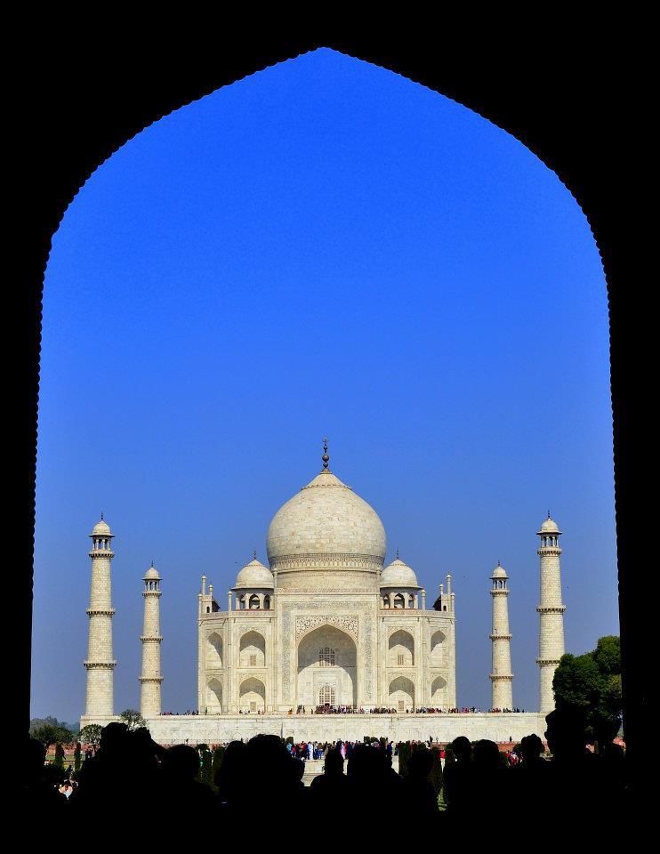 The first time we saw the Taj Mahal.