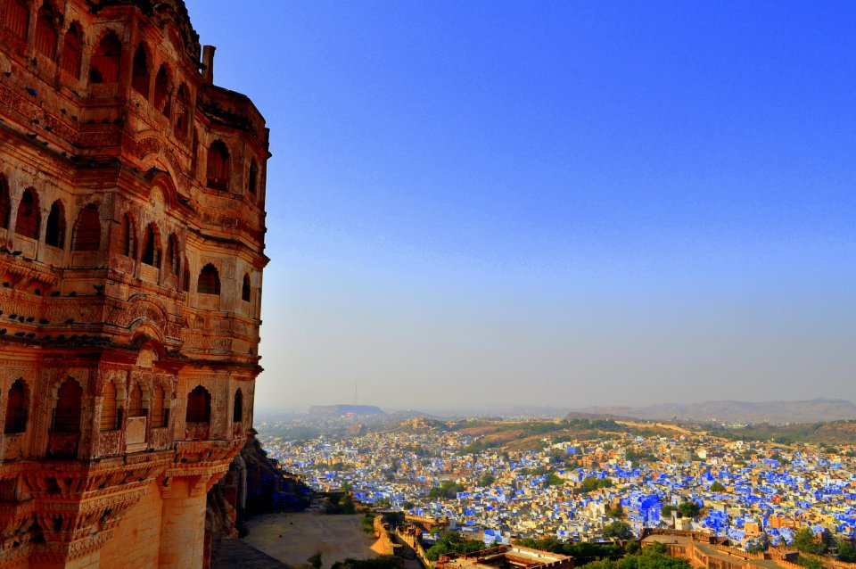 The view of the Blue City from Mehrangarh Fort.