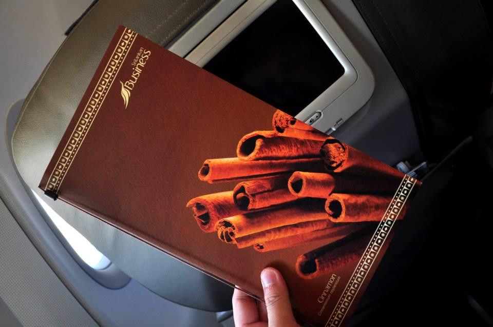 in-flight foodie menu business