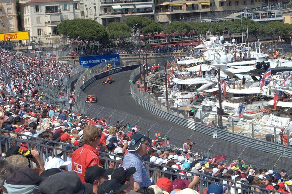 Monaco Grand Prix in action.