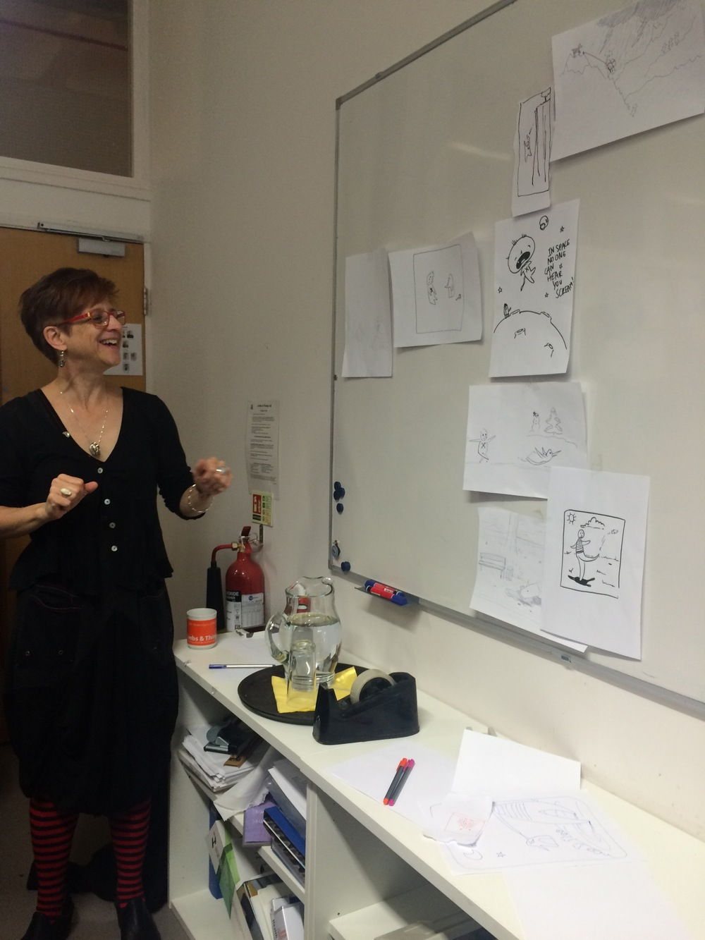 Shelley Wall, Faculty of Medicine, University of Toronto, held the Visual Storytelling the workshop