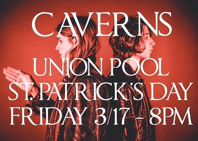 OUR NEXT SHOW! See you on St. Patty's! 🍀 @union_pool 484 UNION AVE w/ @theveevees & @ashadowofjaguar