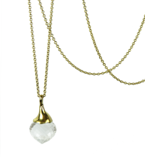 834e45df9b Rock Crystal Drop Pendant — KEISHI JEWELLERY