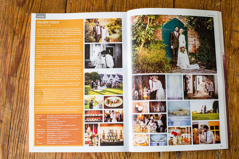 REAL WEDDING FEATURE // KASEY & ZAKI  Our latest feature of Kasey and Zaki's wedding at Trewidden looks great in Cornwall's Wedmag spring issue. Here is their website:   wed magazine