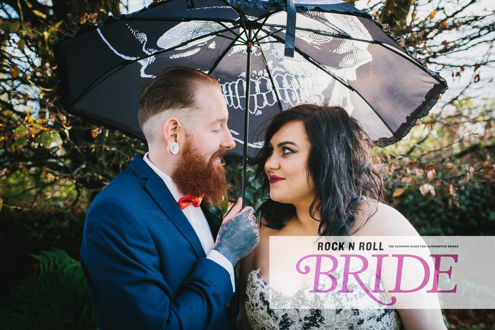 REAL WEDDING FEATURE // LAURA & MARTYN  a Halloween styled creepy gothic wedding at Trevenna Barns featured on the fantastic wedding blog   rocknrollbride.com   the ultimate guide for alternative brides..
