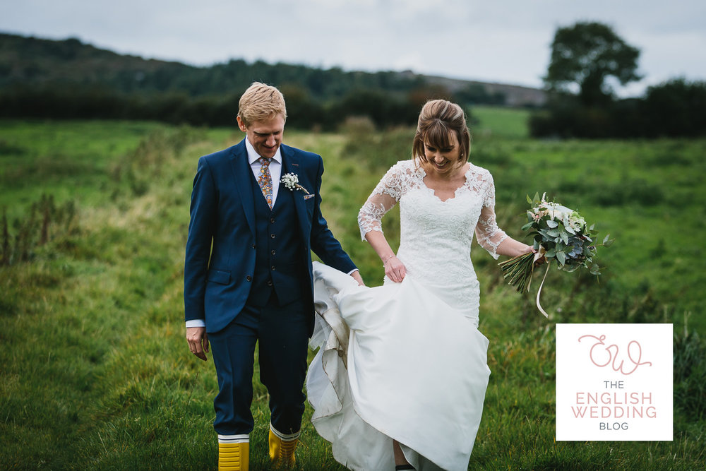 Lorna & Chris prove you don't need the sunshine to have a great wedding day in Cornwall. Their beautiful classic english wedding at The Green Cornwall stuffed with personal details features now on   The English Wedding Blog