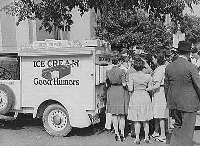 Good Humor ice cream truck, Washington, D.C., 1942, Courtesy of the Library of Congress Collection