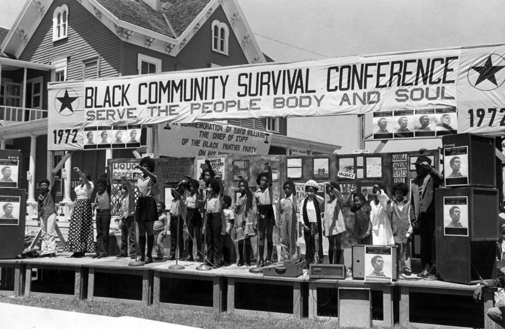 Black Panther Survival Conference, 1972, Oakland, California, Courtesy of the Stanford University Special Collections Library