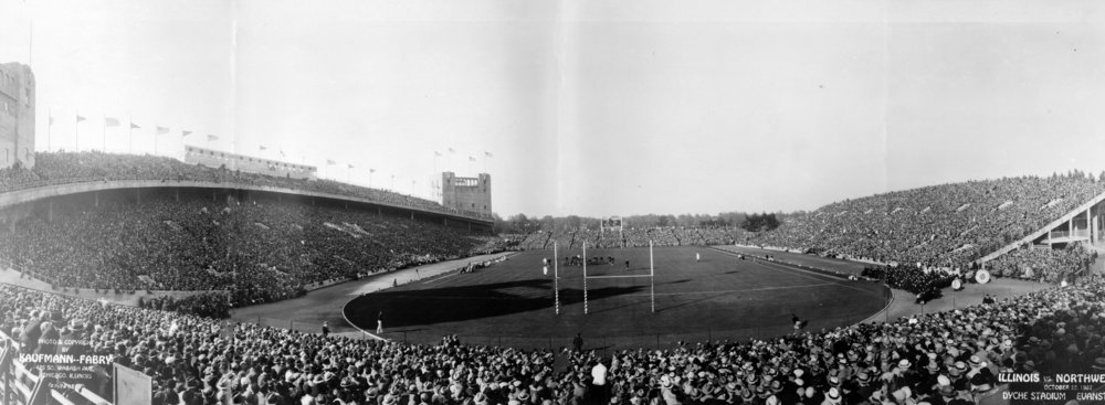 Illinois vs. Northwestern, 1927, Dyche Stadium, Evanston, Illinois, Courtesy of the Library of Congress