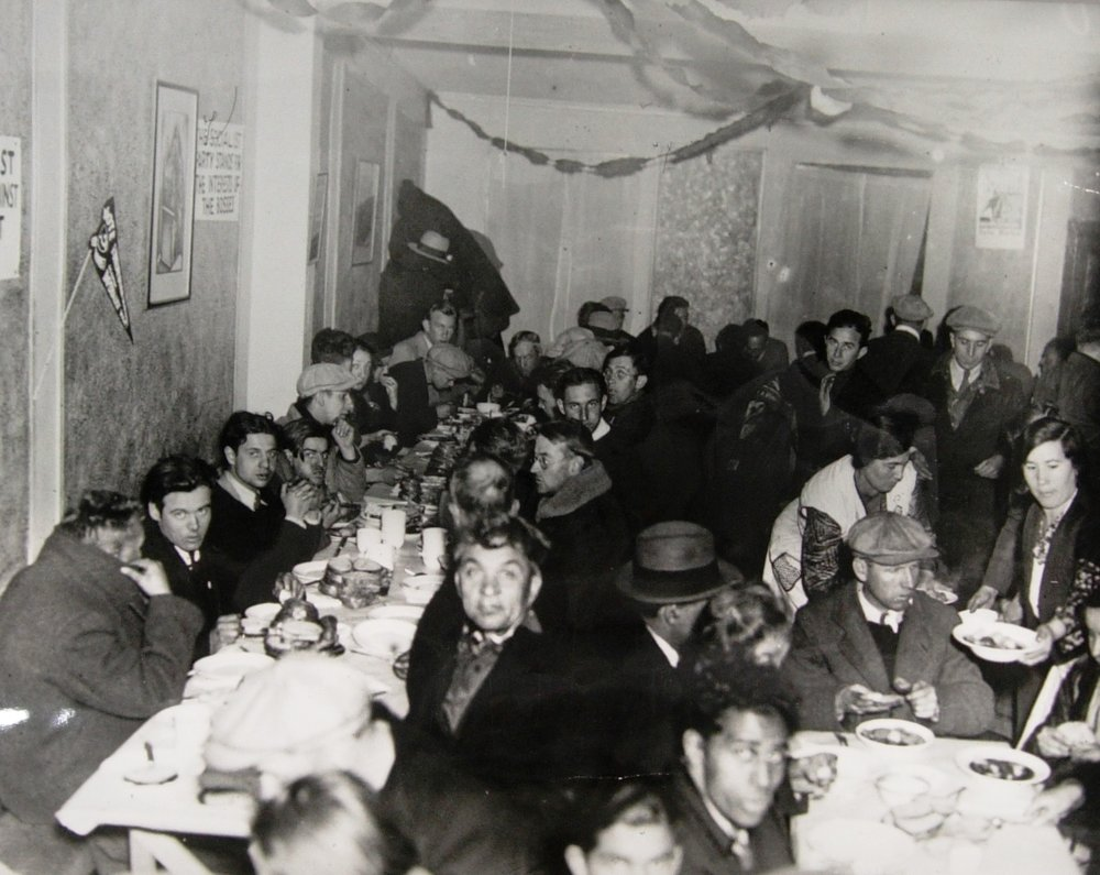 Depression Era Relief Dinner, Courtesy of the Library of Congress