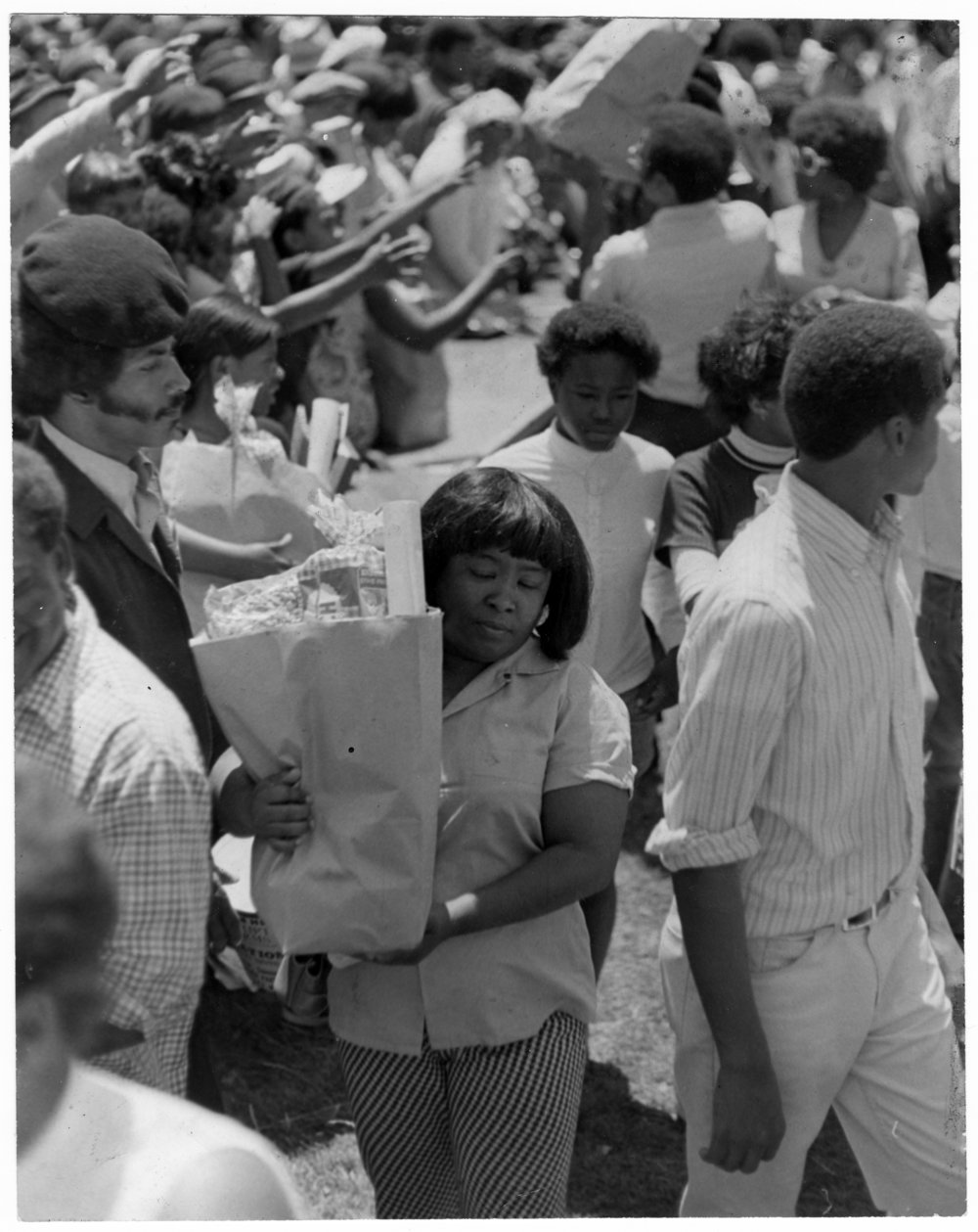 Black Panther party food giveaway, Courtesy of the Stanford University library