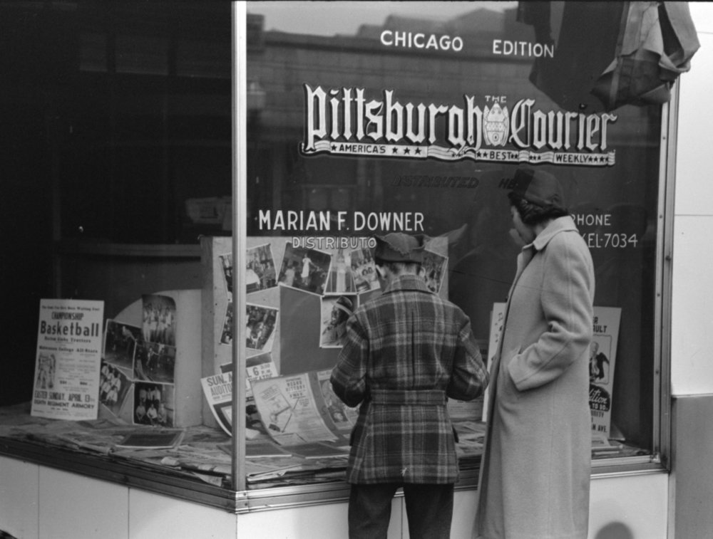 Pittsburgh Courier Distributor, Chicago, Illinois, 1941, Courtesy of the Library of Congress