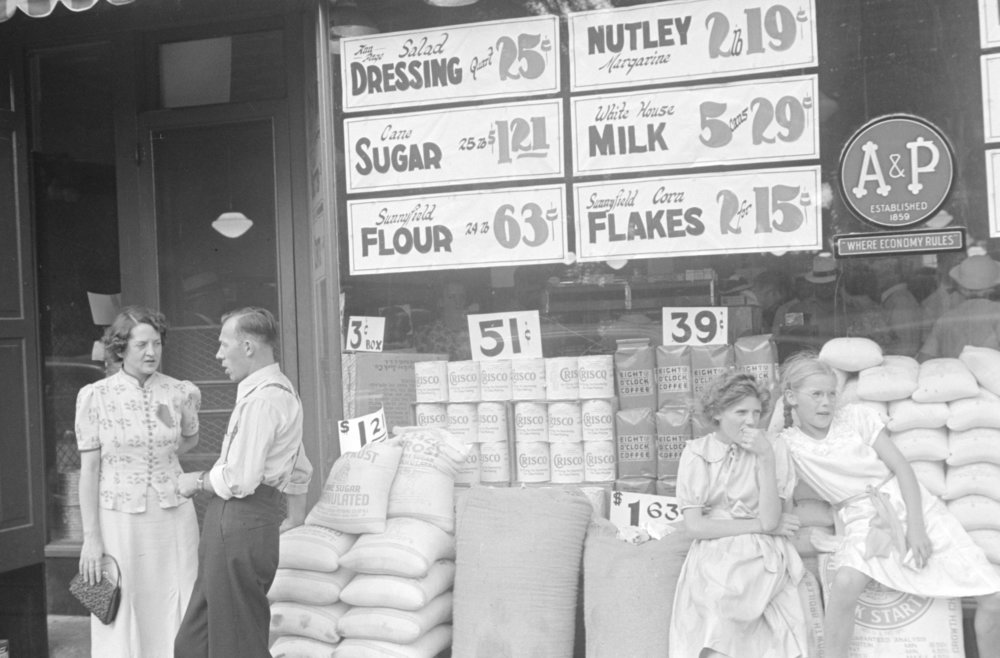 A&P Store 1938, Courtesy of the Library of Congress