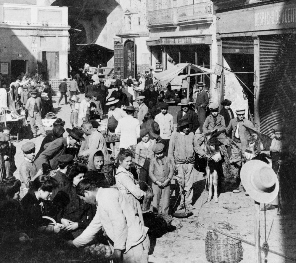 Market, Postigo del Aceite, Seville, Spain, 1908, Courtesy of the Library of Congress