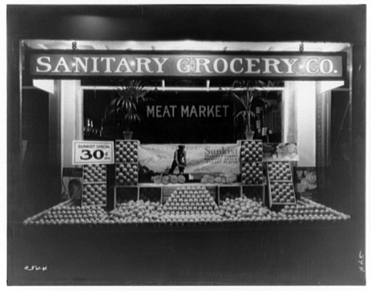 Sanitary Grocery Corporation Store, Georgia Ave, Washington, D.C., 1920, Courtesy of the Library of Congress