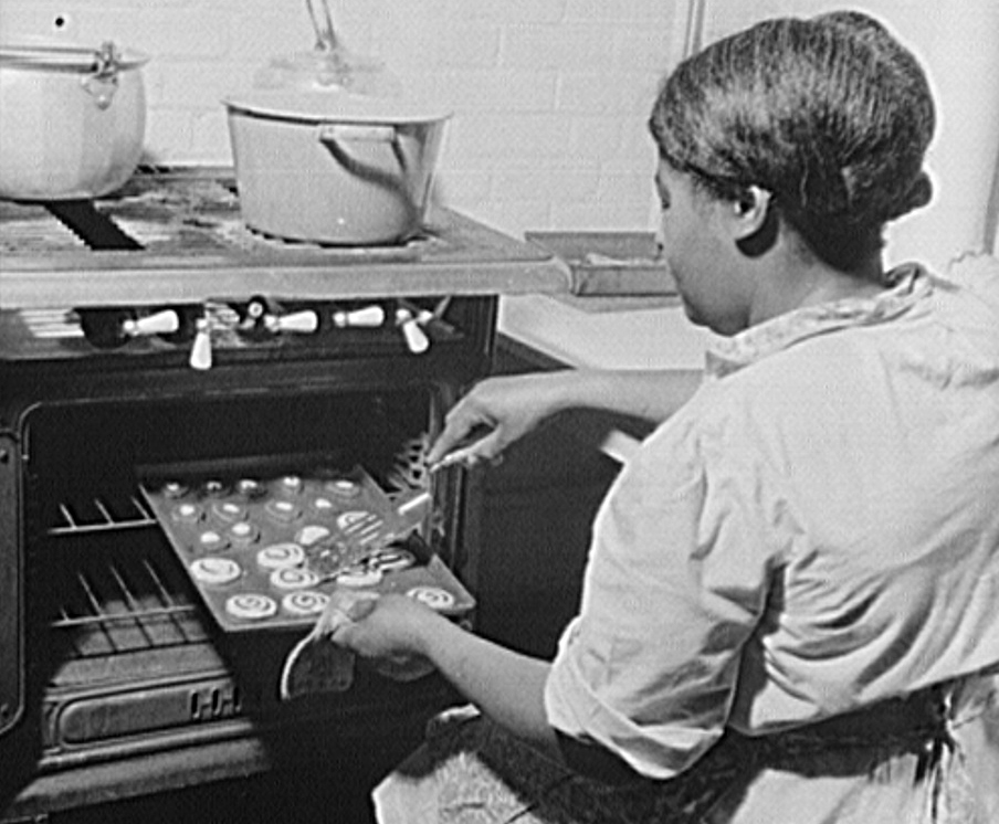 Baking Cookies in 1943, Courtesy of the Library of Congress
