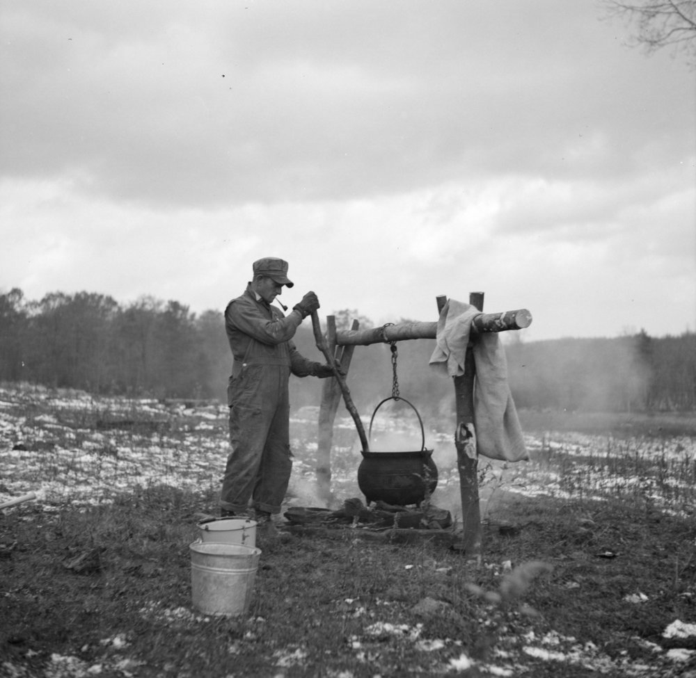 Cooking Soup in Garrett County, Maryland in 1936, Courtesy of Library of Congress