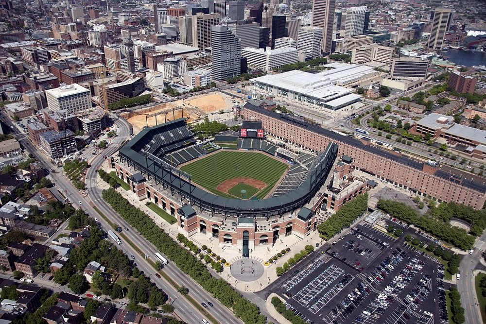 Camden Yards Stadium, Baltimore, Maryland, Courtesy of the Library of Congress