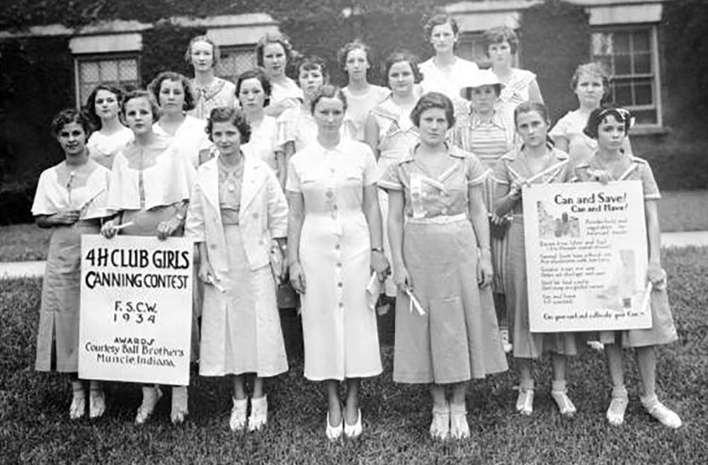 Women 4-H club Canning Contest Winners 1934, Courtesy of State Archives of Florida, Florida Memory Project
